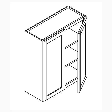 Wall cabinet 36 high double door canada kitchen for Kitchen cabinets 36 high